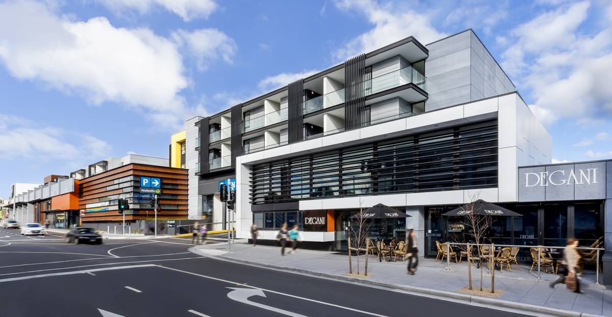 vantage apartments and woolworths mixed use